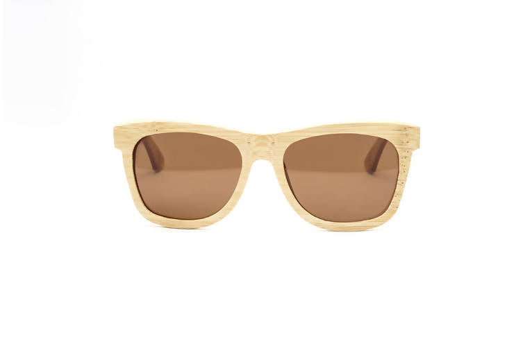 Personalised Bamboo Sunglasses with name (Wayfarer) (4-6 working days)