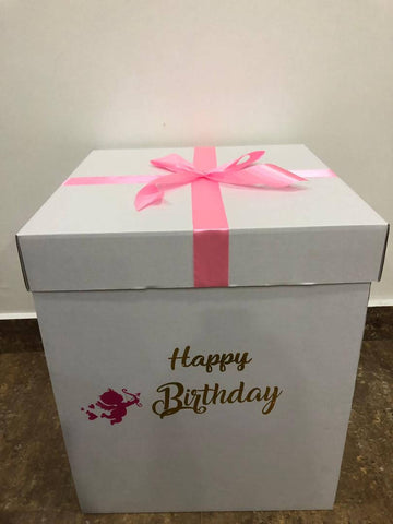 'Happy Birthday' Surprise Balloon Box in Pink