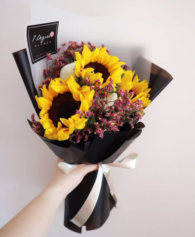 Sunflower & Ping Pong Bouquet