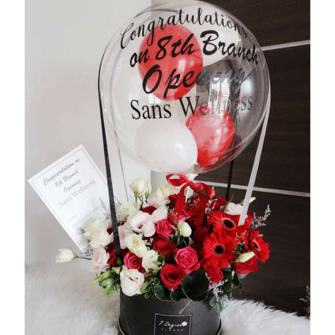 Big Sized Flower Box with Hot Air Balloon