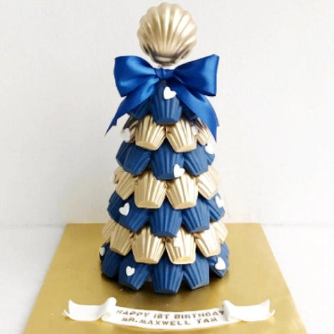 Blue and Gold Madeleine Tower