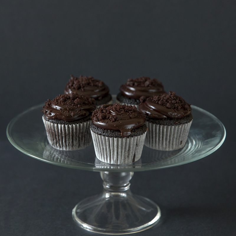 12 pieces of Blackout Cupcakes