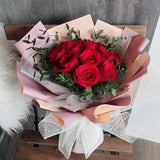 Red Roses Flower Bouquet 12
