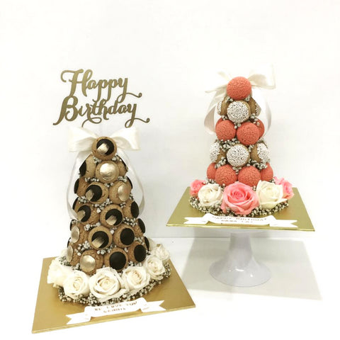 Birthday Croquembouche Tower (Black)