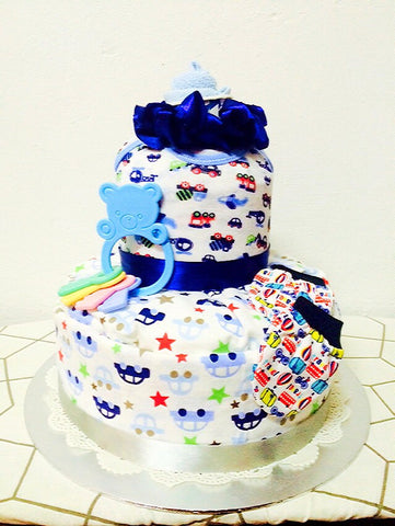 Let's Travel The World Diaper Cake