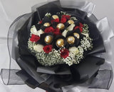 Vintage Black and Silver Flower Bouquet