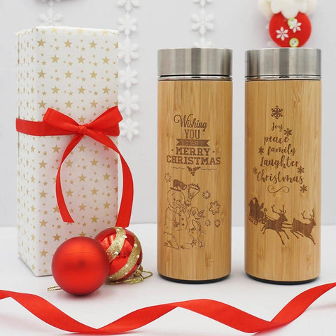 Personalised Christmas 2018 Stainless Steel Thermal Flask With Wordings