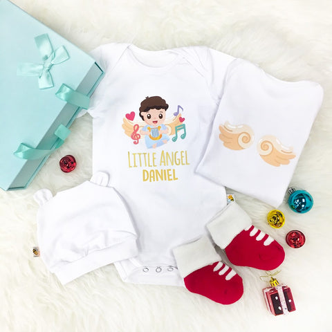 Little Angel BOY with Music Instrument Romper Set + Gift Box