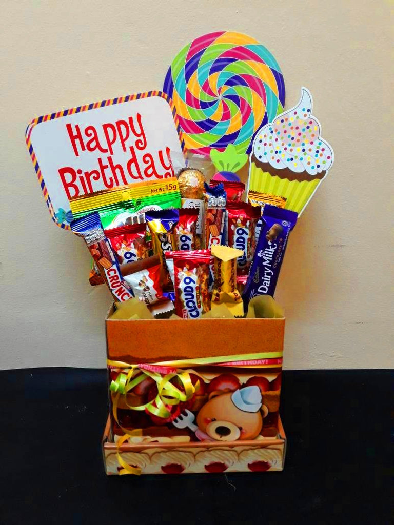 Colourful Birthday Chocolate Box