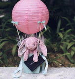 Guardian Angel Jellycat Bunny with Lantern Balloon Set