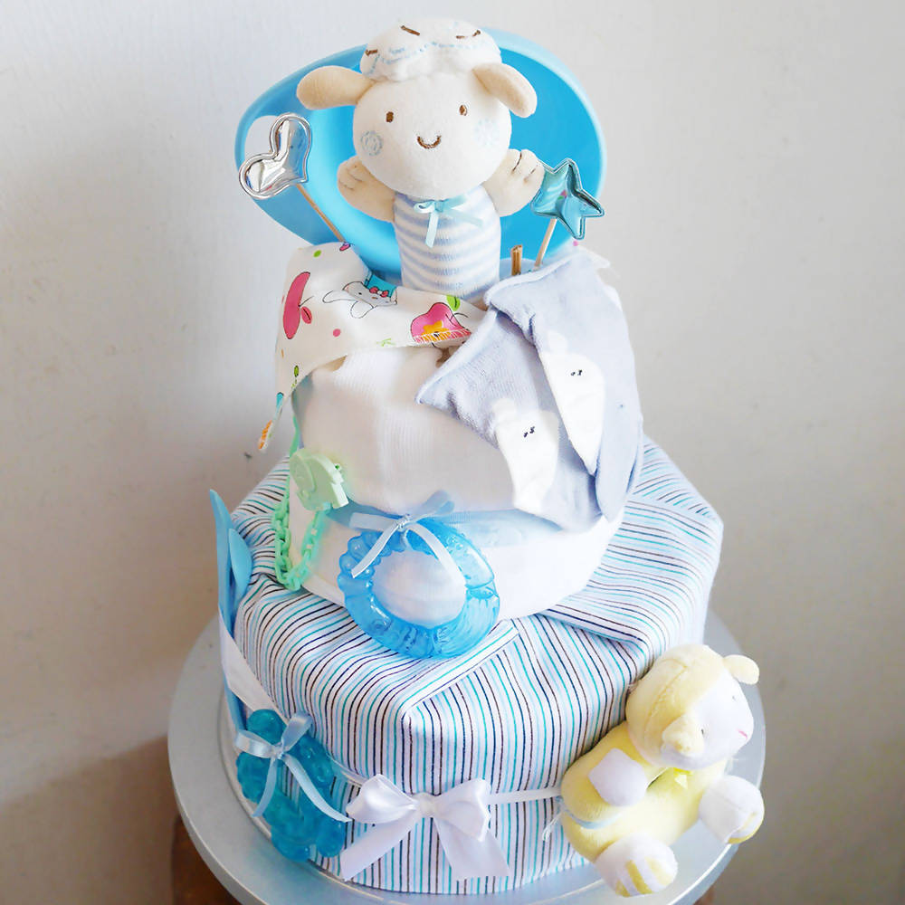 Bashful Bear Nappy Cake (Penang Delivery only)