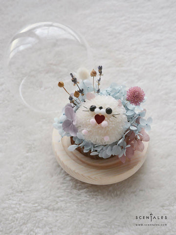 (Valentine's Day 2020) Tofu the Hamster Preserved Flower Glass Globe