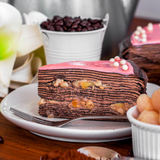 Lychee Chocolate Mille Crepe Cake