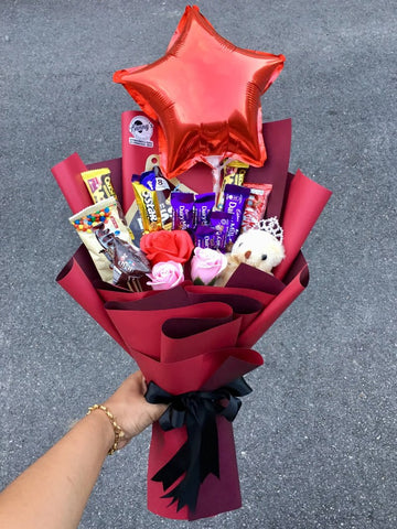 Mix Chocolate Bouquet 12 (Penang Delivery only)