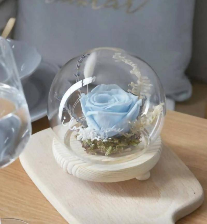 (Valentine's Day 2020) Sanctuary Preserved Blue Rose Globe