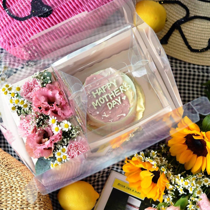 Mother's Day 2021 Flower Box with Cake