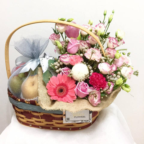 Get Well Fruits & Flowers Basket 1