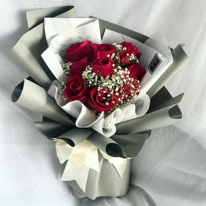 Jade Red Roses Bouquet (Ipoh Delivery Only)