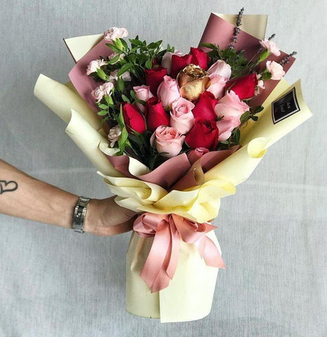 Hidden Garden Roses Bouquet (Ipoh Delivery Only)