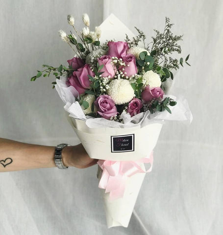 Scents of Heaven Purple & White Bouquet (Ipoh Delivery Only)