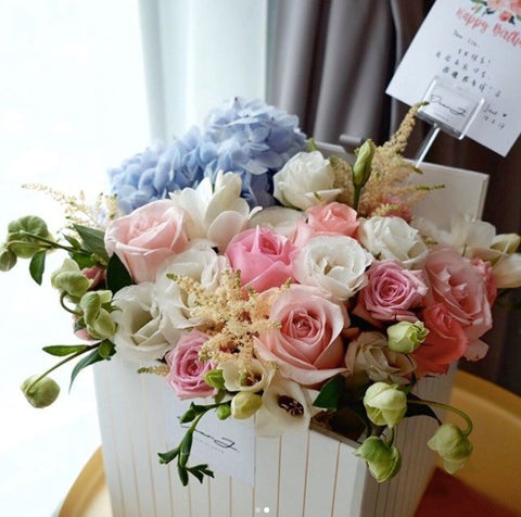 Mixed Pastel Pink Flower Box