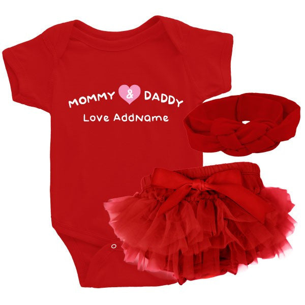 TeezBee Mommy & Daddy Love Baby Girl Gift Sets