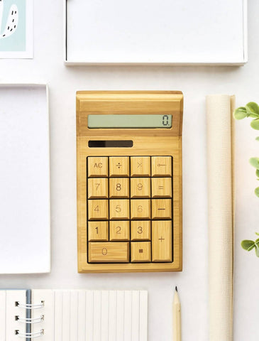 Personalized Wooden Calculator with Wordings