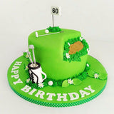 Golf-Themed Cake