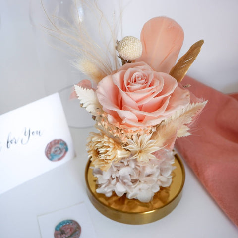Sweet Love Preserved Flower Glass Dome (Mother's Day 2021)