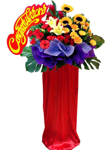 Congratulation Board Mix Flower Grand Opening Flower Stand
