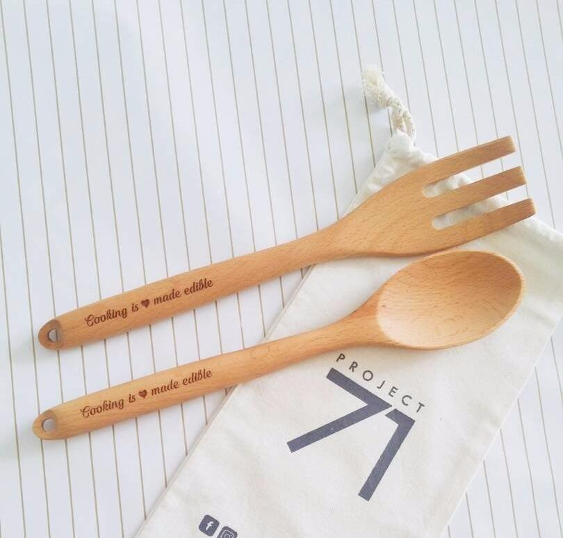 Personalized Wooden Kitchen Utensils