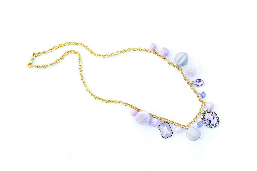 Cameo Purple Necklace