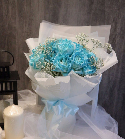 Classic Tiffany Blue Roses Bouquet