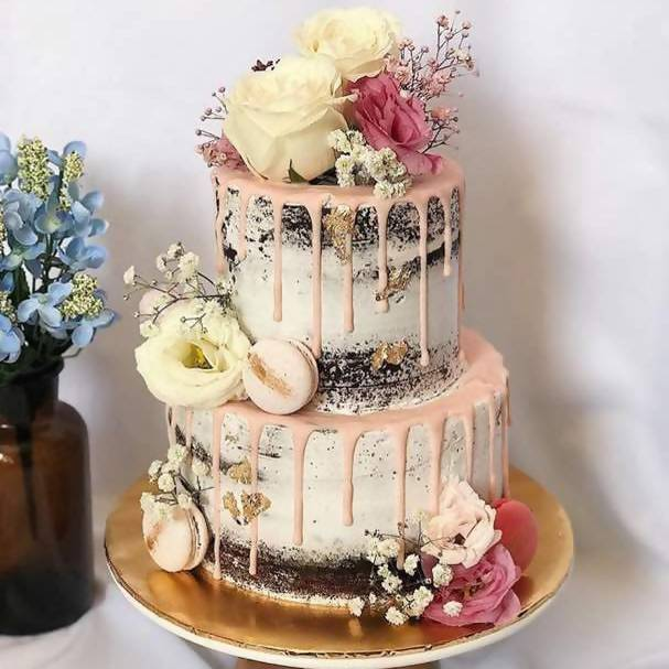 2-Tier Semi-Naked Roses Cake (Penang Delivery only)