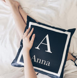Black Monogram Cushion (Pre-order 2 to 4 weeks)
