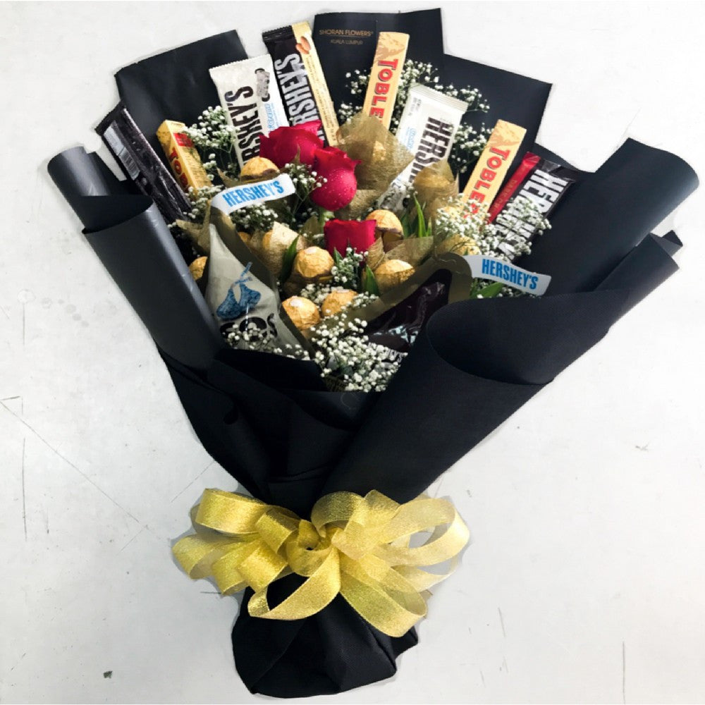 Willy Wonka Chocolate Bouquet | Giftr - Malaysia\'s Leading Online ...