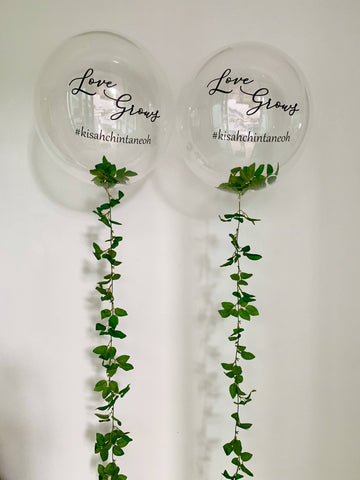 "24"" Bubble Balloon with Leaves Strip (Single)"