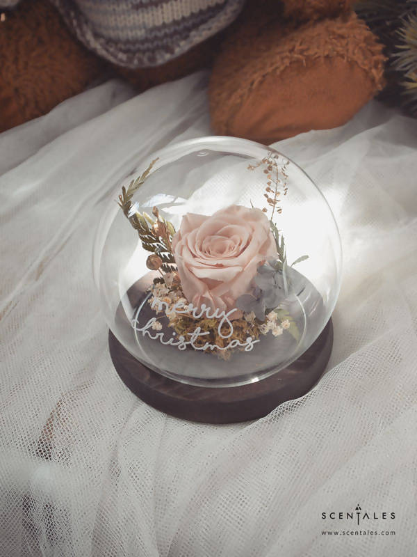 (Valentine's Day 2020) Tender Heart Preserved Flower Glass Globe