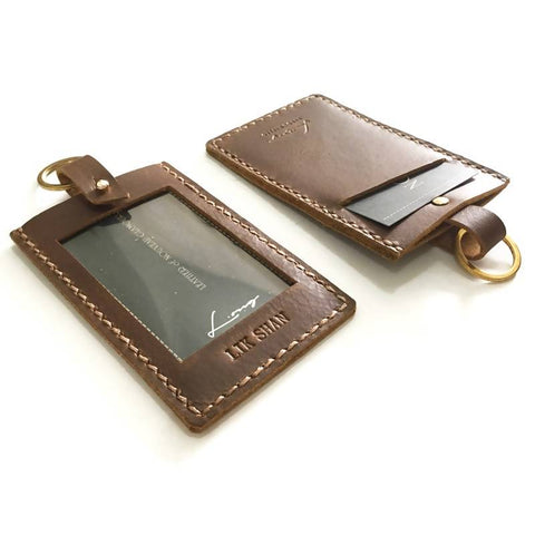 Leather Essential Id Card Holder