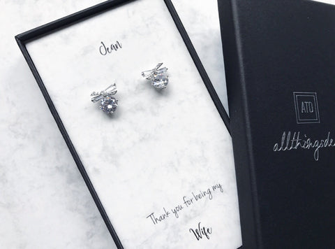 Bow Stud Earrings (Pre-order 2-4 weeks)
