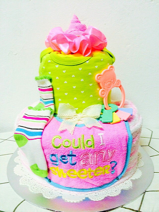 Oversweet Pink Icing Diaper Cake