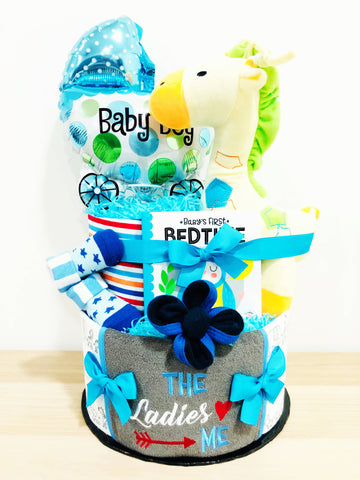 SET E Baby Boy Diaper Cake (Nationwide Delivery)