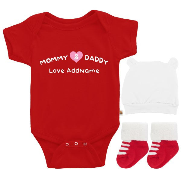TeezBee Mommy & Daddy Love Baby Boy Gift Sets