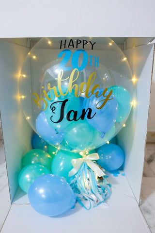 LED Bubble Balloon Surprise Box