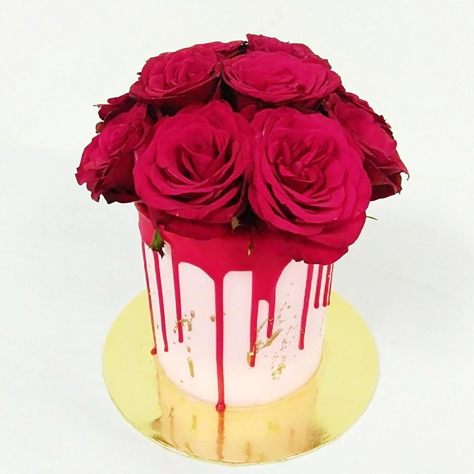 Be Mine Forever Floral Cake (Valentine's Special)