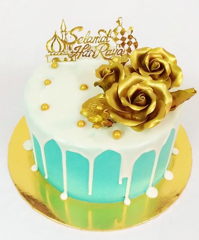 Golden Moment Raya Cake