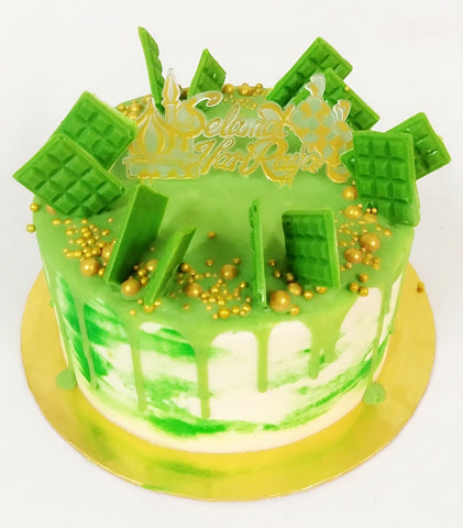 Happy Reunion Raya Cake
