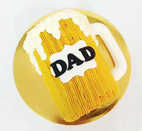 Beer Mug Design Father's Day Cake