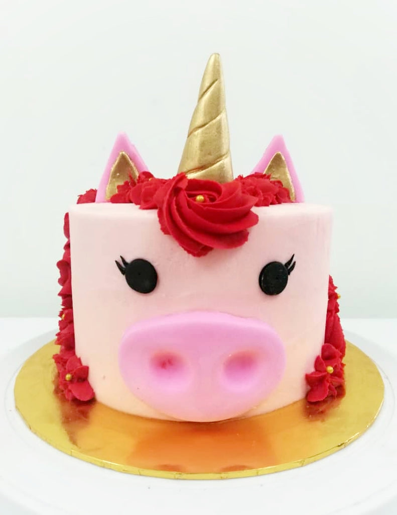 CNY 2019 Piggy Unicorn Cake