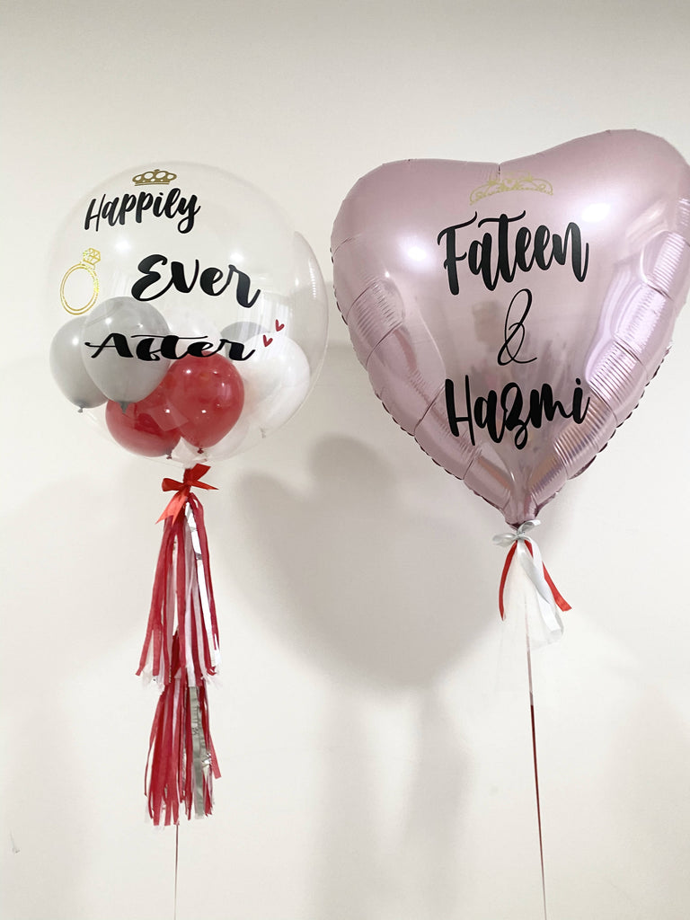 Customised 'Engagement' Balloon Package